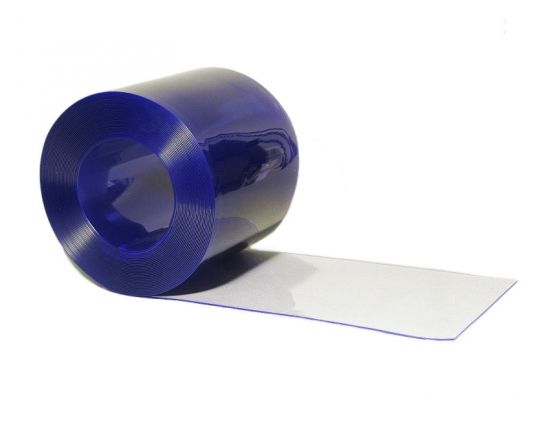 25m200x2mm PVC Rolle BLAU - transparent